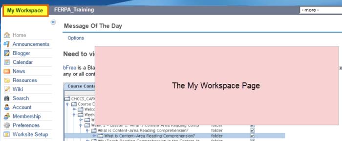 FERPA My Workspace