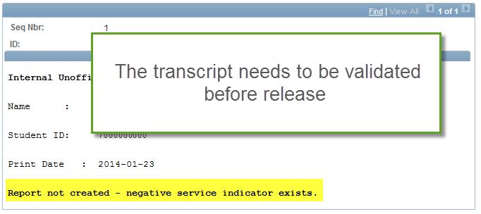 Ordering Transcripts