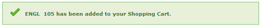 confirmation class has been added to shopping cart