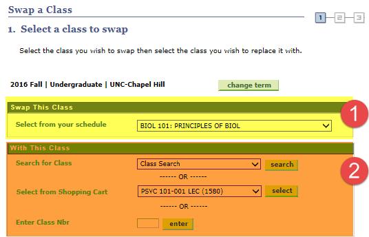 swap courses