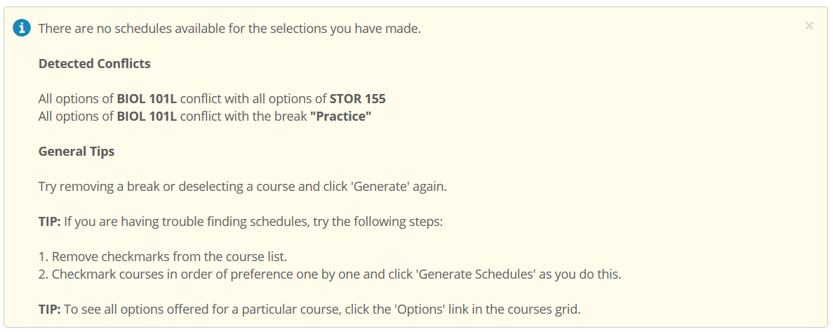 Using Your Schedule Planner Office Of The University Registrar